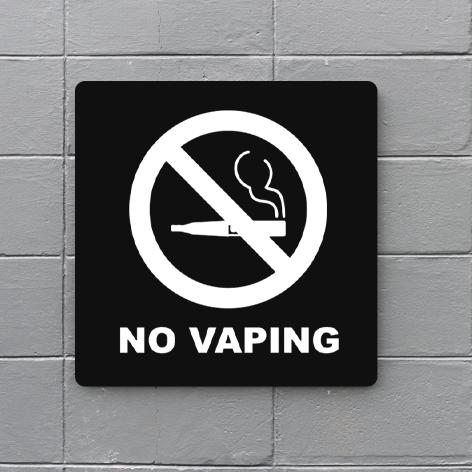 No Vaping Signs
