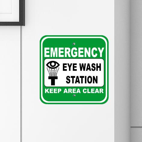 Eye Wash Station Signs