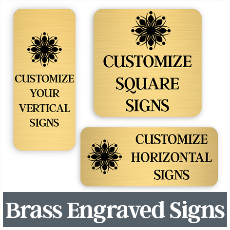 Engraved Brass Signs