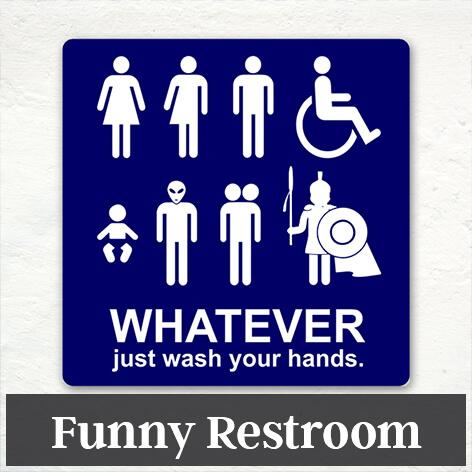 Funny Restroom Signs