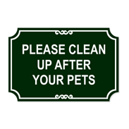 Dog Clean Up Signs