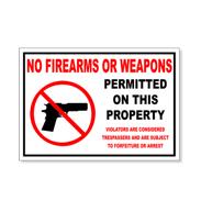 No Guns Signs