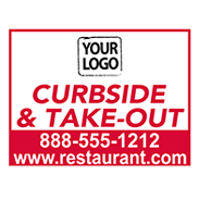 Restaurant To-Go Signs