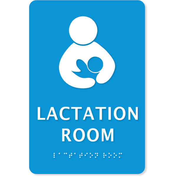 """Lactation Room ADA Sign with Braille 