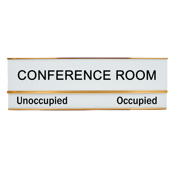 Conference Room Unoccupied Occupied 3 X 10 Slide Sign Without Slider