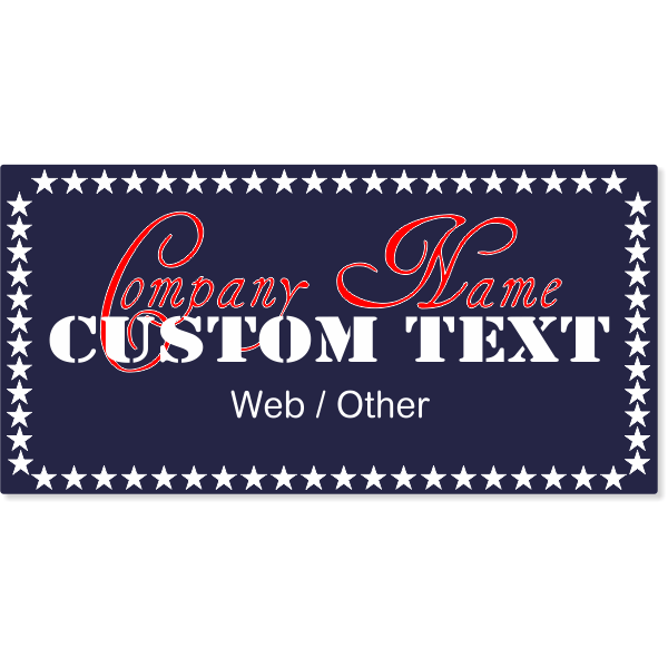 All American Auto Magnetic Sign   Set of 2