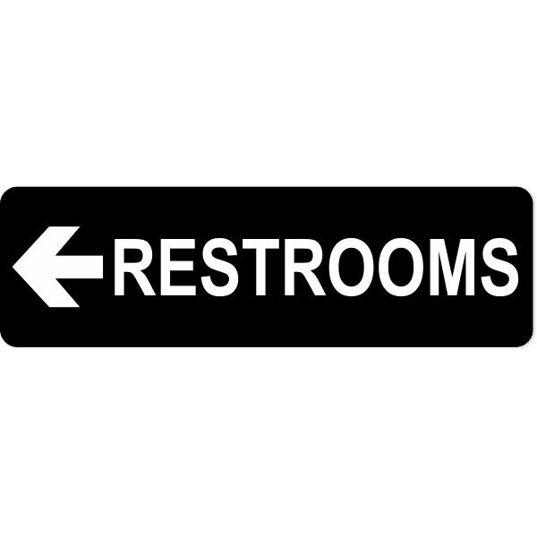 Restroom Left Sign