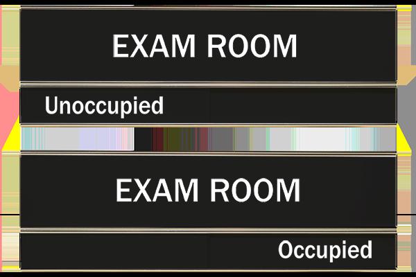 Black Exam Room Slider Sign