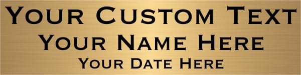"Three Line Custom Brass Plates | 2"" x 8"""