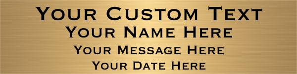 Large 4 Line Custom Brass Sign