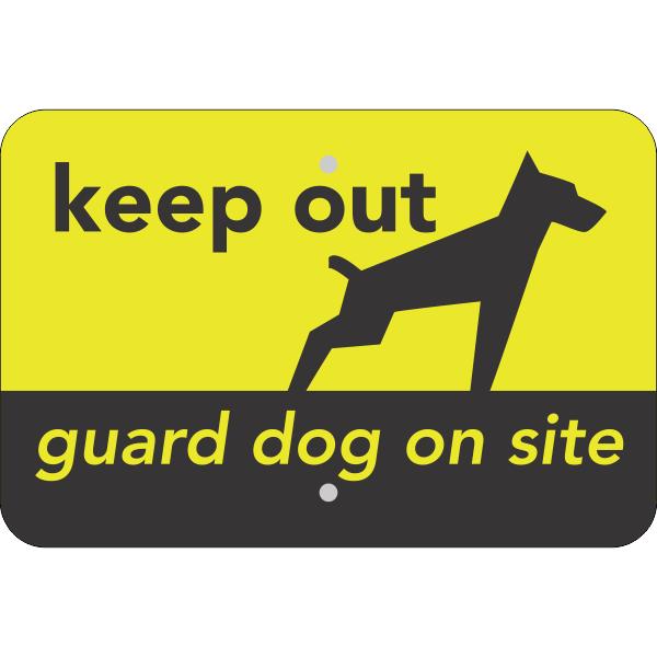 Keep Out Guard Dog Horizontal Sign
