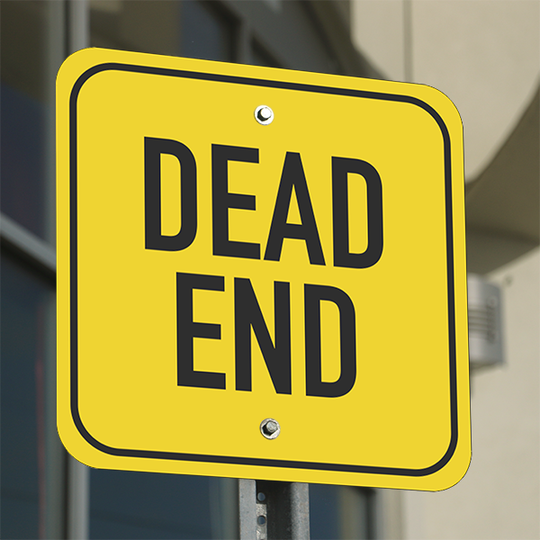 Mounted Square Dead End Sign
