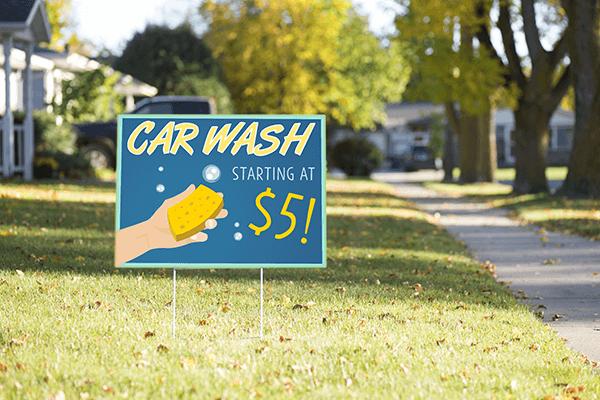 Mounted Hand Car Wash Sign