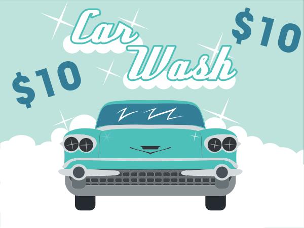 Vintage Car Wash Sign