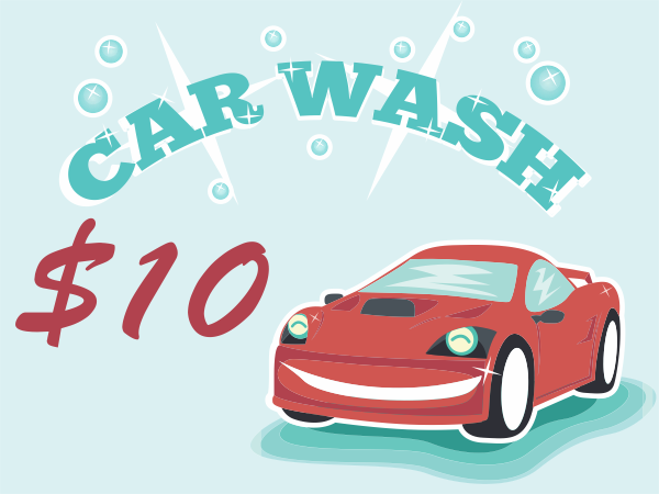 Sparkling Clean Car Wash Sign