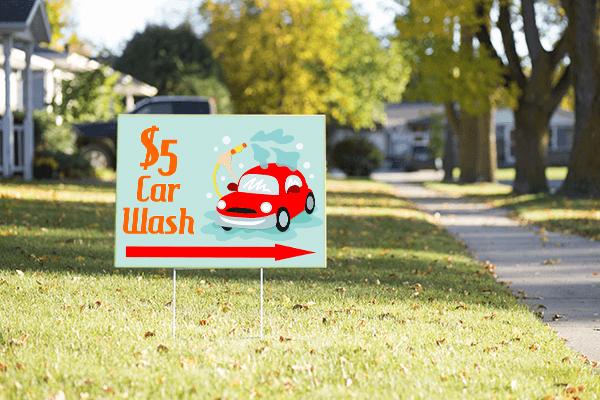 Mounted Car Spray Car Wash Sign