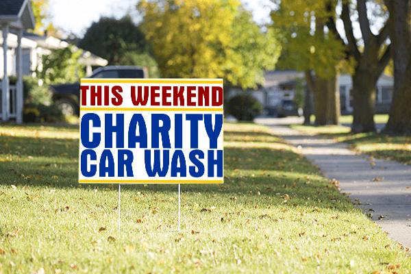 Mounted Generic Car Wash Sign