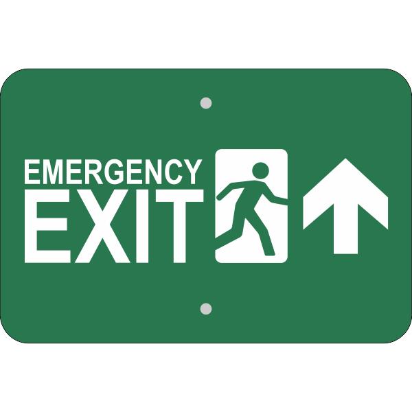 Horizontal Forward Arrow Emergency Exit Sign