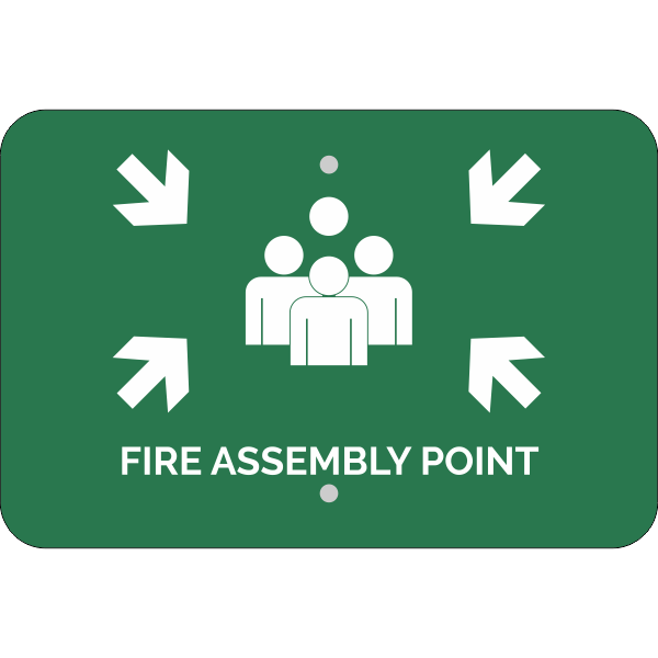 Horizontal Fire Assembly Point Sign