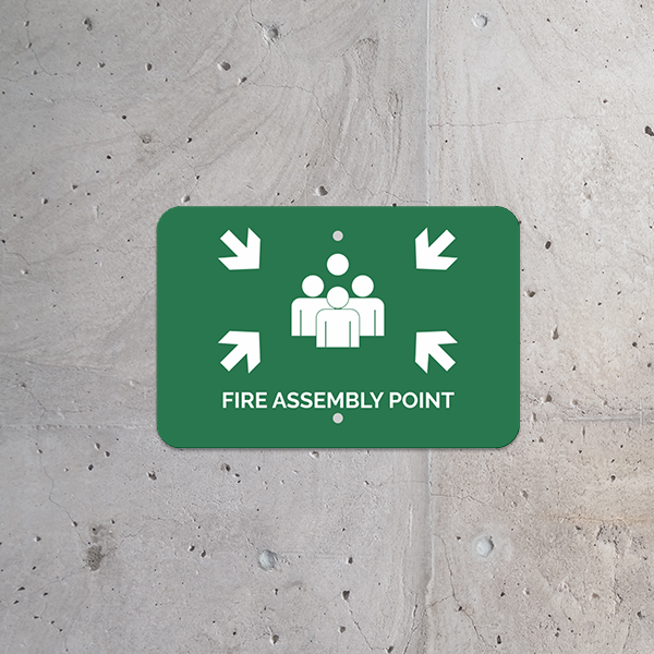 Mounted Horizontal Fire Assembly Point Sign