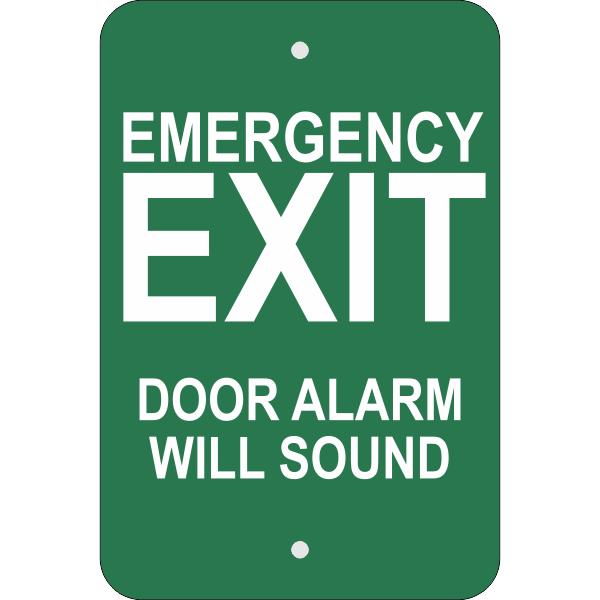 Vertical Door Alarm Emergency Exit Sign