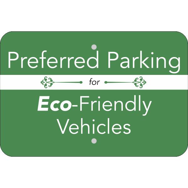 Horizontal Eco Parking Conserve Sign