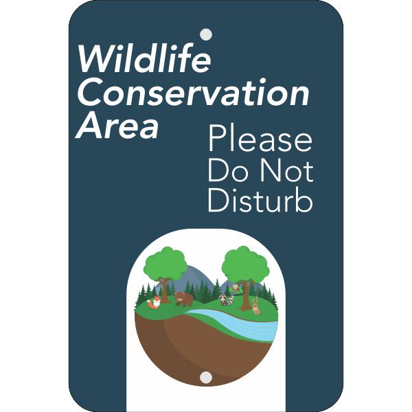 Vertical Wildlife Conservation Sign