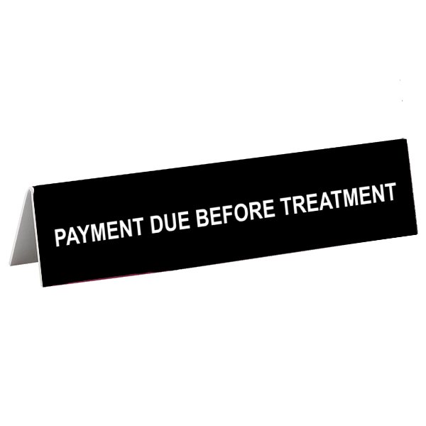 Treatment Tent Sign