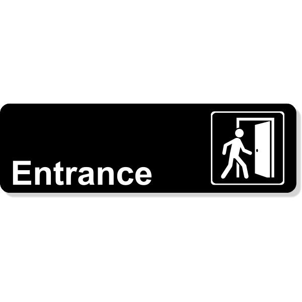Entrance Icon Sign