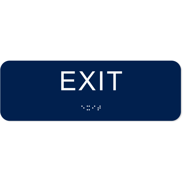 """Exit ADA Sign with Braille   2"""" x 6"""""""