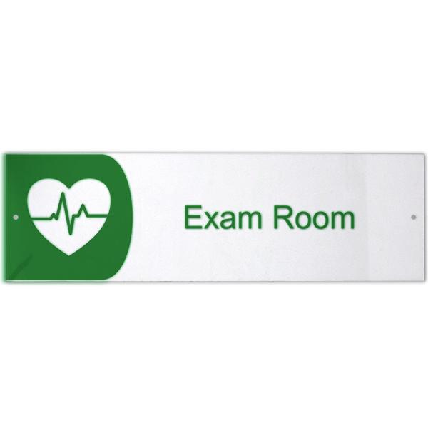 "Exam Room Icon Acrylic Print Sign - 3"" x 10"""