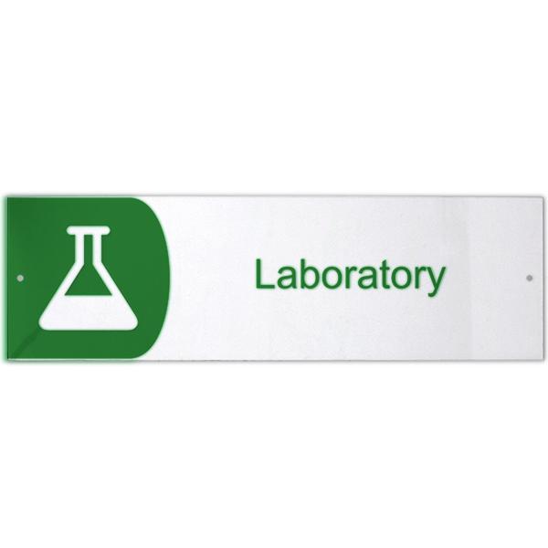 "Laboratory Icon Acrylic Sign - 3"" x 10"""