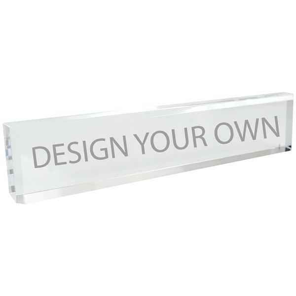 "10"" Clear Acrylic Desk Block"