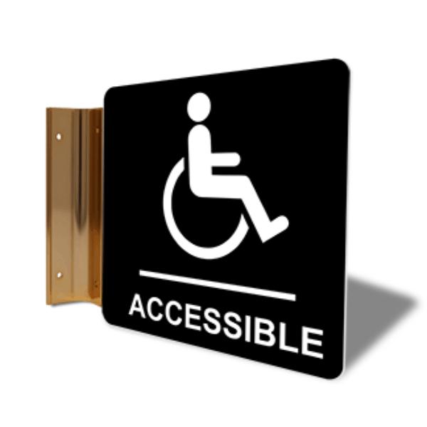"""Handicap Accessible Corridor Sign   6"""" x 6"""""""