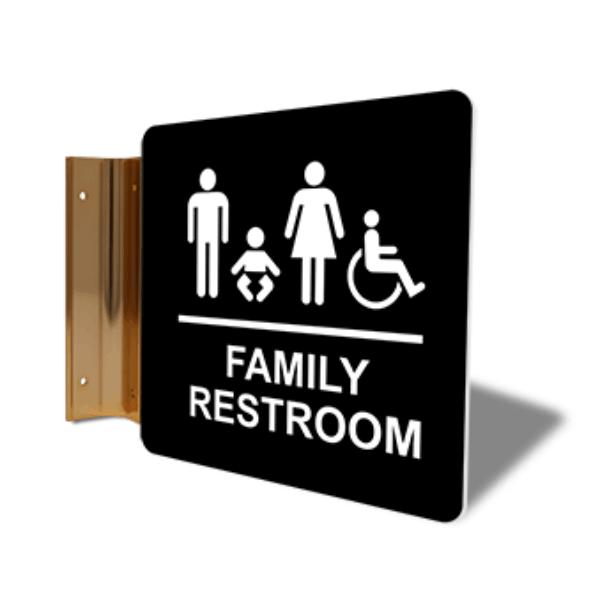 "Family Restroom Corridor Sign | 6"" x 6"""