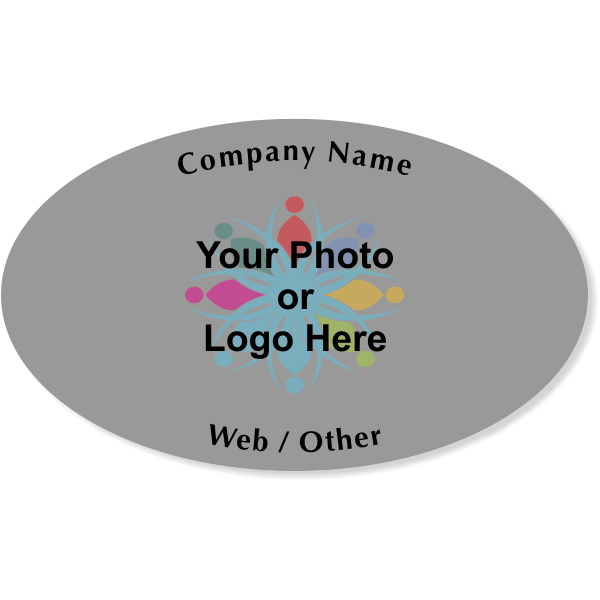 "Business Logo Oval Bumper Sticker   3"" x 5"""