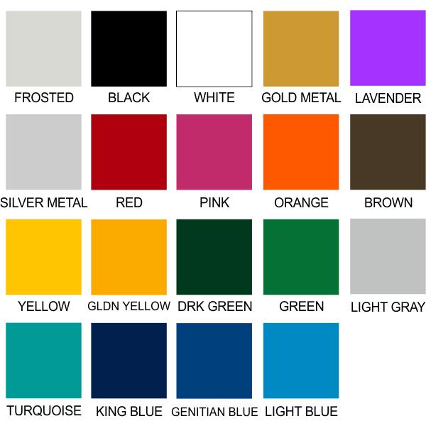 Vinyl Material Color Option