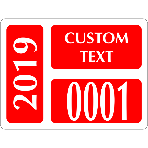 Clear Static Cling Parking Label   Design 101