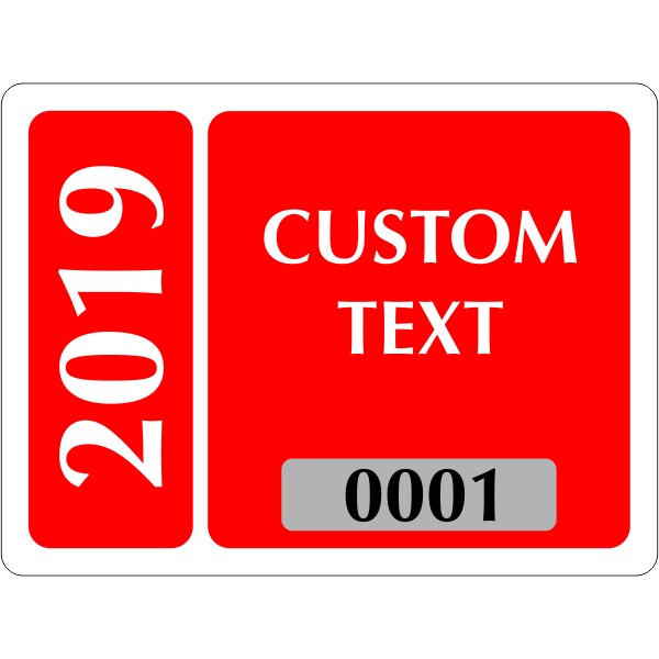 Clear Static Cling Parking Label   Design 102