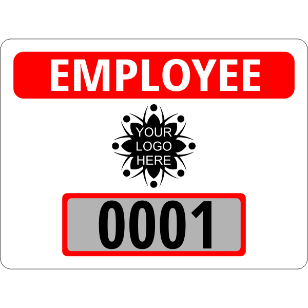 Custom Logo Employee Clear Static Cling Parking Label