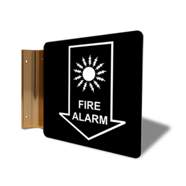 "Fire Alarm Down Arrow Corridor Sign | 6"" x 6"""
