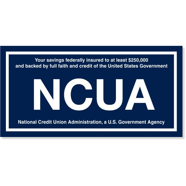 "NCUA Engraved Plastic Wall Plate   4"" x 8"""