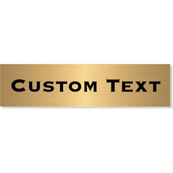 "Single Line Custom Text Brass Plate   3"" x 12"""