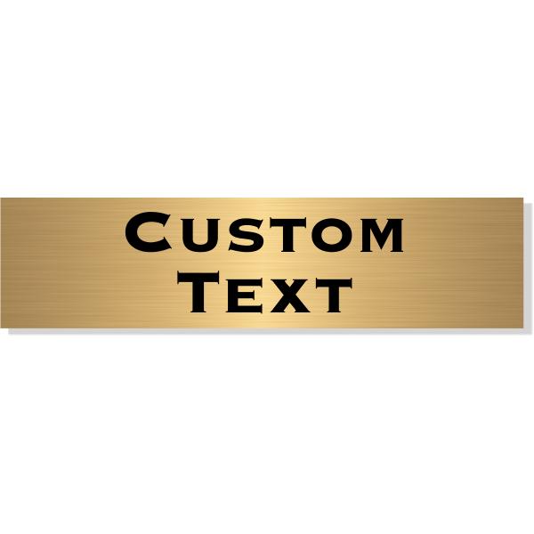 "Double Line Custom Text Brass Plate   3"" x 12"""