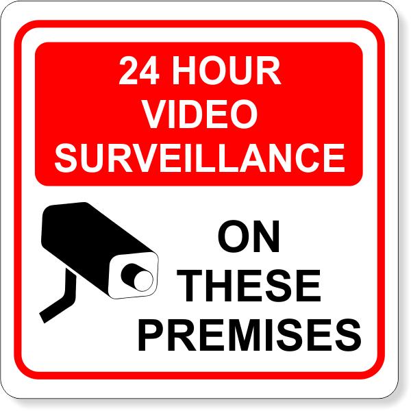 "24 Hour Surveillance Vinyl Decal | 6"" x 6"""