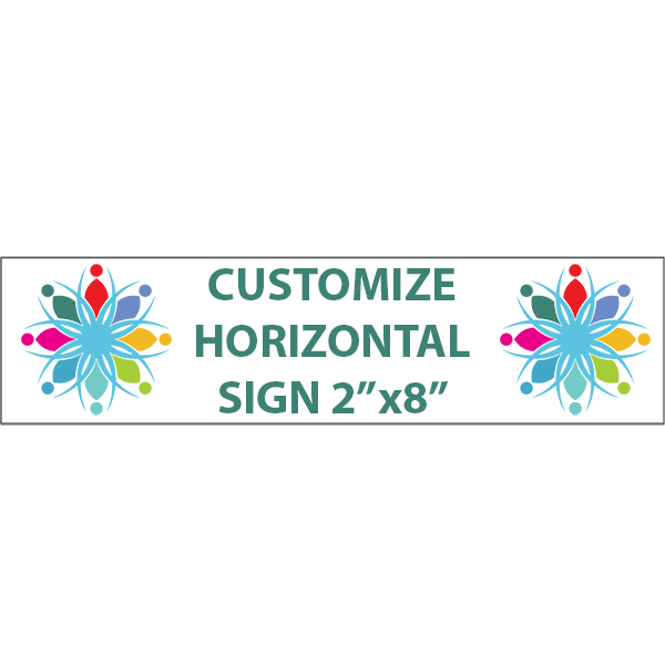 "Color Sign Horizontal 2"" x 8"""