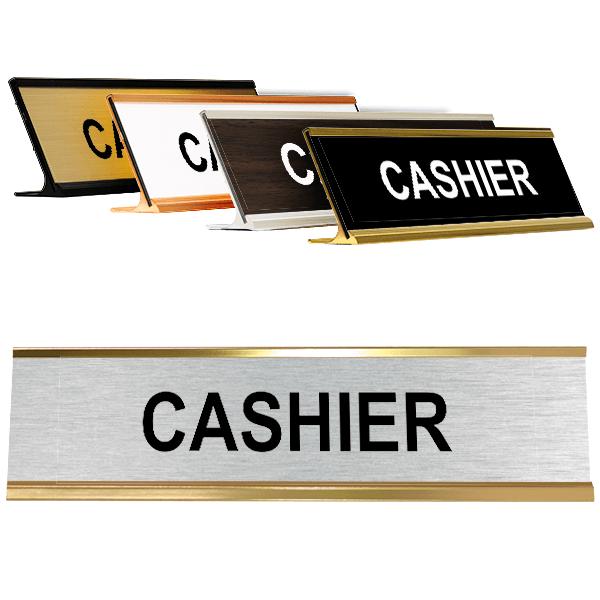 "Cashier Desk Plate | 2"" x 8"""