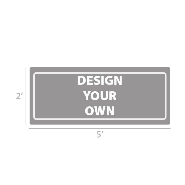 2' x 5' Custom Full Color Vinyl Banner