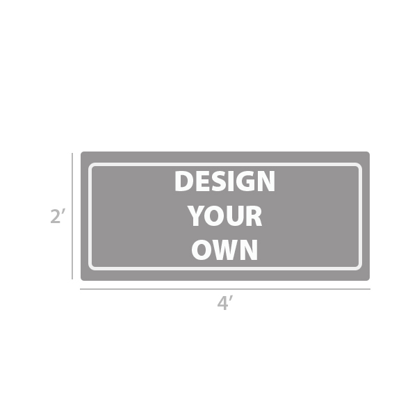 2' x 4' Custom Full Color Vinyl Banner