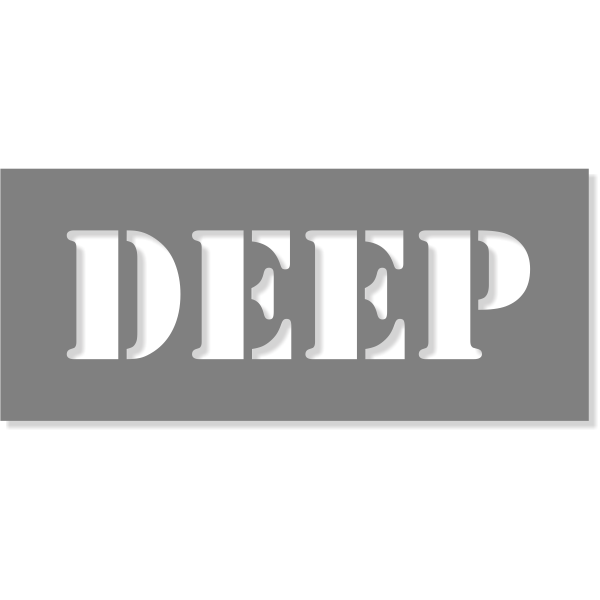 "3"" Letter Deep Stencil | 6"" x 14"""